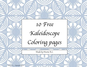 Kaleidoscope 21 Med Coloring Page - Free kaleidoscope Coloring ... | 270x350