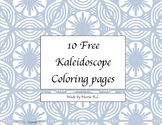 10 Free Kaleidoscope Coloring pages