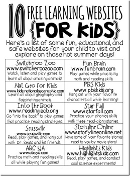 Image result for 10 free websites for kids