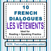 10 French Dialogues - LES VÊTEMENTS (Reading and Speaking Practice)
