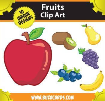 10 Fruits Clipart