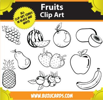 10 Fruits Clipart