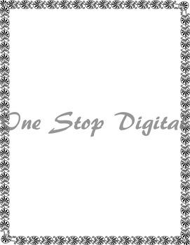 10 Full Page Digital Border Clip Art Flourish Swirl Border Clipart