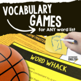 Vocabulary Games for ANY Word List and Multiple Learning Styles