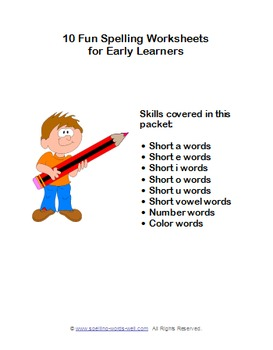 10 Fun Spelling Worksheets for Early Learners
