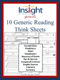10 Generic Reading Think Sheets (Worksheets)