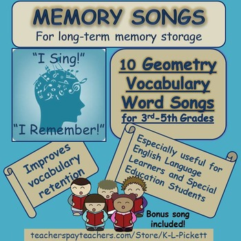 10 Geometry Vocabulary Word Songs for Third to Fifth Grades