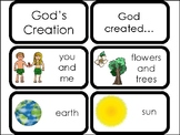 10 God's Creation Printable Flashcards. Preschool-Elementary Bible Study.