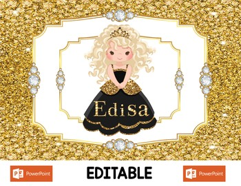 10 Gold Digital Princess Placemats For All Ages - Super Mega Bundle