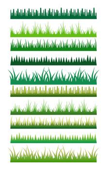 10 Grass Borders Clipart, Digital Grass Frames, Grass Edges, Page Divider