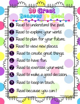 10 Great Reasons to Read Poster