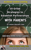 10 Great Strategies to Establish Partnerships with Parents