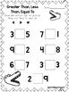 10 Greater Than, Less Than, Equal Draw the Sign Worksheets. Preschool-Grade 1