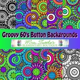 10 Groovy 60s Button Digital Papers