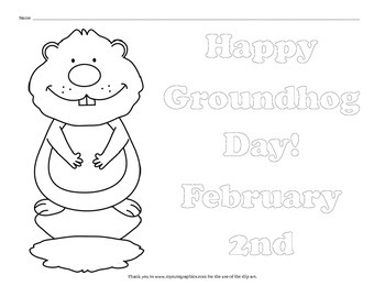 10 Groundhog Day Coloring Pages