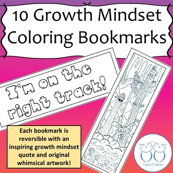 10 Growth Mindset Coloring Bookmarks