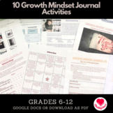 10 Growth Mindset Journal Activities | Online Learning | Distance Teaching