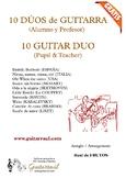 10 Guitar duos (Pupil & Teacher)