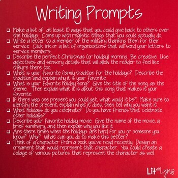 10 HOLIDAY JOURNAL PROMPTS- DIGITAL AND PRINTABLE