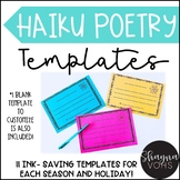 10 Haiku Poem Templates