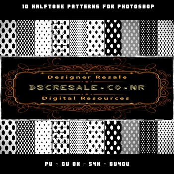 10 Half Tone Patterns for Photoshop