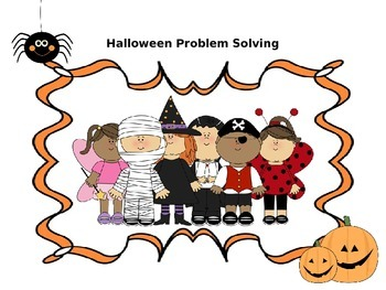 10 Halloween Common Core Problem Solving Practice pages fo