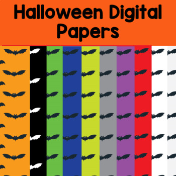 10 Halloween Digital Papers and backgrounds- bats