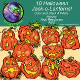 10 Halloween Jack-o-Lanterns
