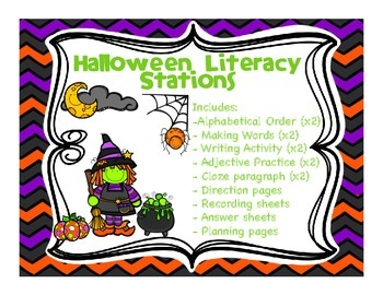 10 Halloween Literacy Stations
