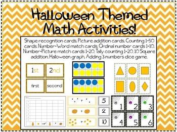 10 Halloween Themed Math Activities