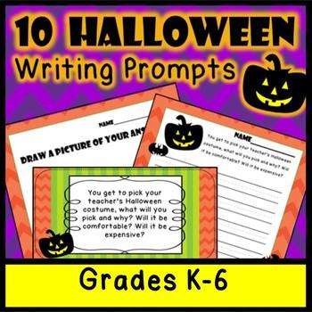 10 FUN Halloween Writing Prompts