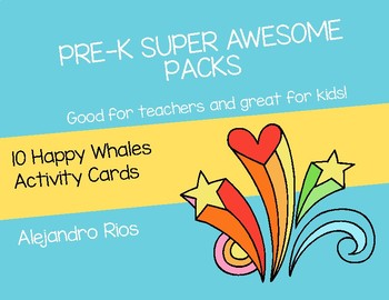 10 Happy Whales Activity Cards