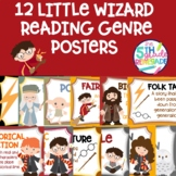 12 Little Wizard Themed Reading Genre Posters
