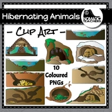 10 Hibernating Animals Clip Art