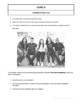 10 High Quality French GCSE Photocards for AQA : Post-16 Education