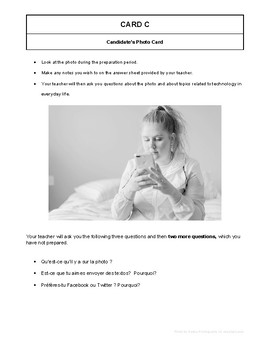 10 High Quality French GCSE Photocards for AQA : Technology in eveyday life