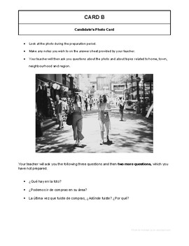 10 High Quality Spanish GCSE Photocards for AQA : Home, Town, Neighbourhood