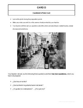 10 High Quality Spanish GCSE Photocards for AQA : Jobs, Career choices, Ambition