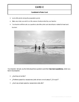 10 High Quality Spanish GCSE Photocards for AQA : Travel and Tourism