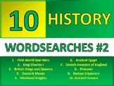 10 History Wordsearch #2 Starter Activities Cover Homework Plenary Settler
