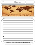10 History Writing Prompt Sheets Pack 2