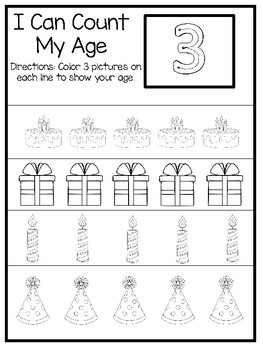 10 How Old I Am Age 3 Number Tracing and Learning ...