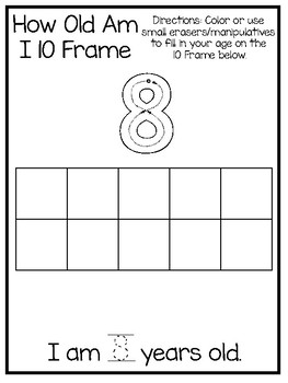 10 How Old I Am Age 8 Number Tracing and Learning ...