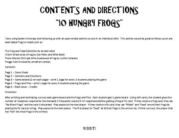 10 Hungry Frogs - An Open-Ended Activity for Speech Therapy