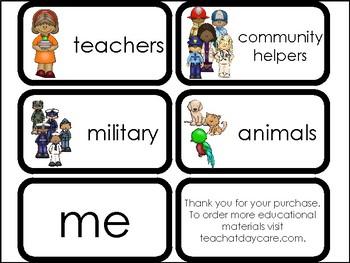 10 I Am Thankful Printable Flashcards. Preschool-Elementary Bible Study.