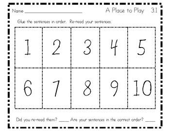 10 Important Sentences - Unit 3 - Grade 1 - Reading Street