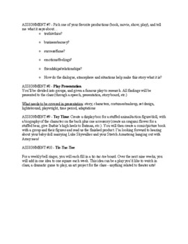 10 In-Depth Theater Assignments!