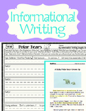 10 Informational Writing Prompts ~Teach Hooks / Leads, Details, Closing Sentence