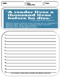 10 Informative/Explanatory Writing Prompt Sheets Pack 6