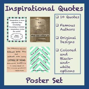 10 FREE Inspirational Quote Posters for ANY Classroom
